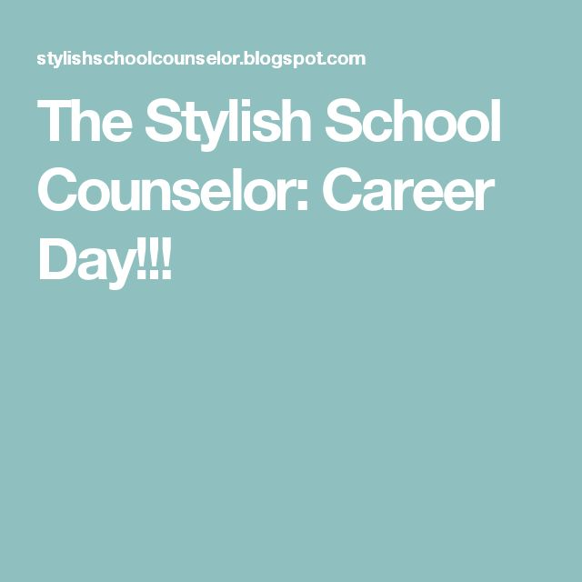 The Stylish School Counselor: Career Day!!!