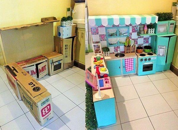 Картонная кухня Картон, кухня, длиннопост, дети