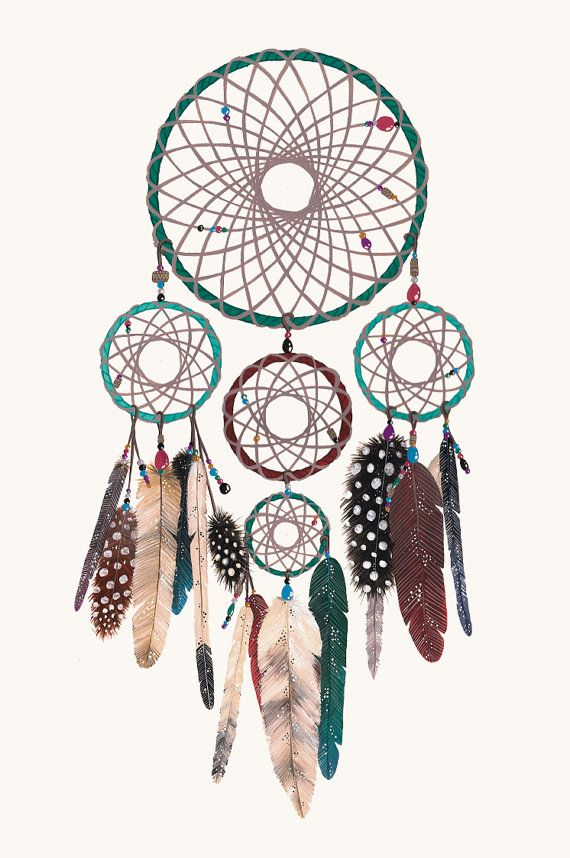 The Peaceful Dreamer Dreamcatcher print 11x17 inches by anavicky, $20.00