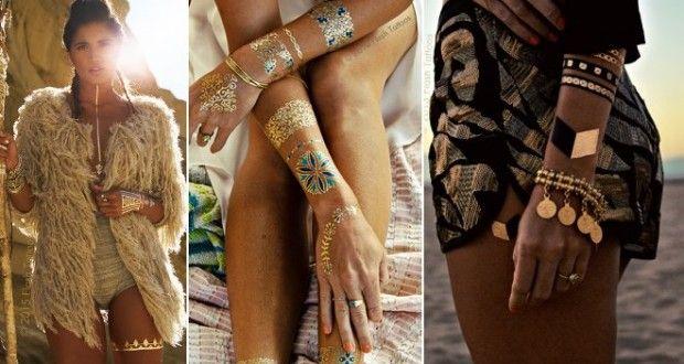 Dövme Trendi : Metalik Dövmeler (Flash Tattoo)   kadın ve trend