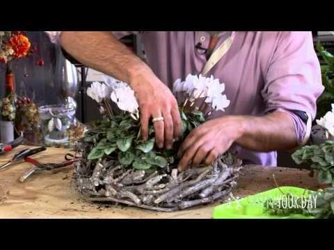 Landelijke creatie met Cyclamen - YouTube
