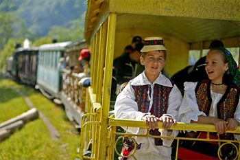 The narrow-gauge railway and the steam powered locomotives (Mocanita) in Viseu de Sus are one of the most remarkable railway heritage attractions in Romania and in Eastern Europe.