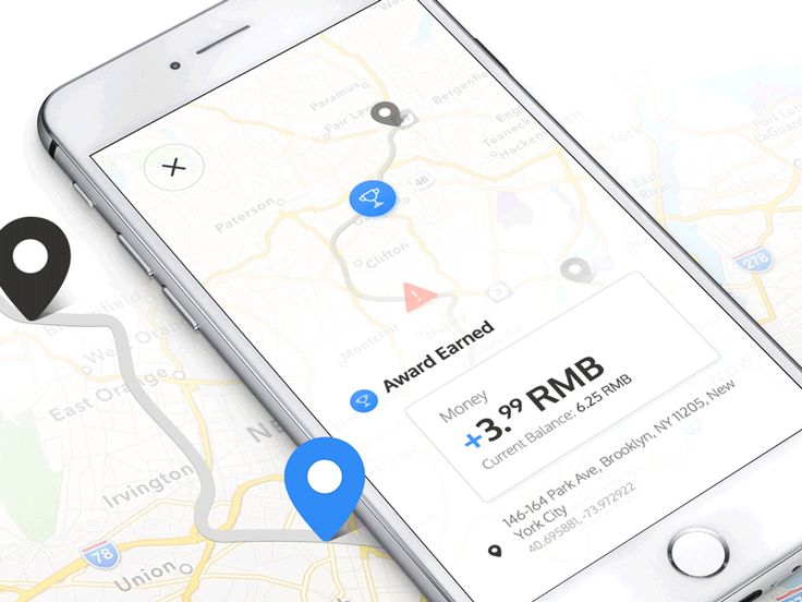 Map Interactions UI animation Inspiration – map