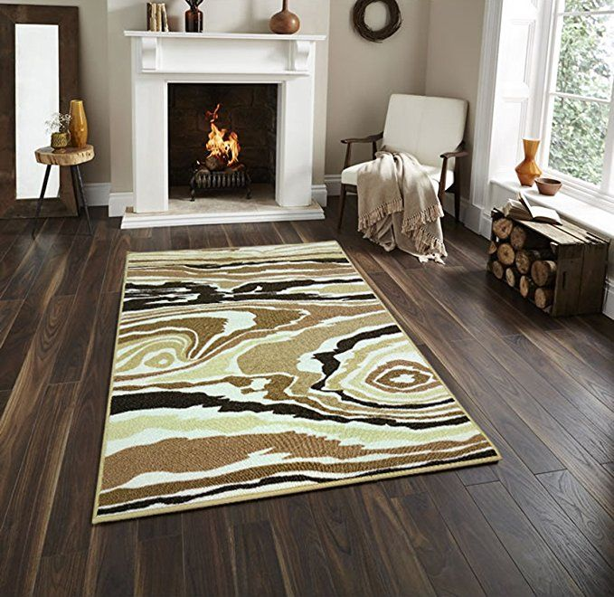Adgo Collection Modern Contemporary Rectangular Design Rubber Backed Non Slip Non Skid Area Rugs Thin Low Profile Ind Floor Rugs Area Rugs Outdoor Flooring