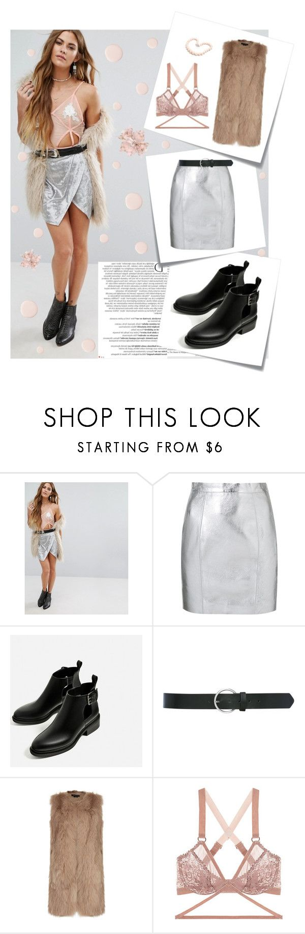 """""""Summer metalic skirt"""" by unii-corn ❤ liked on Polyvore featuring Young Bohemians, Balmain, Post-It, Yves Saint Laurent, M&Co, Theory, Lonely and Hiho Silver"""