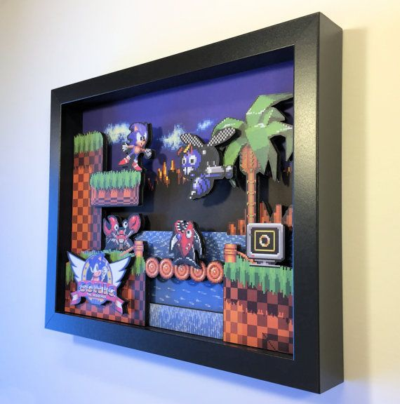 Sonic the Hedgehog 3D Shadoxbox Sega Genesis by GlitchArtwork