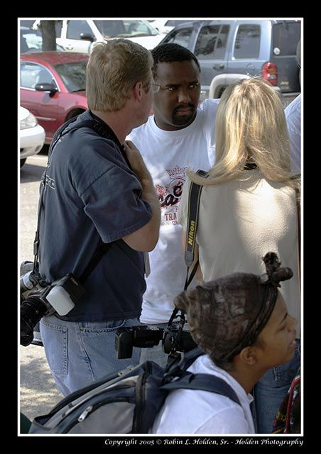 Katrina - Interviewing evacuees from Louisiana