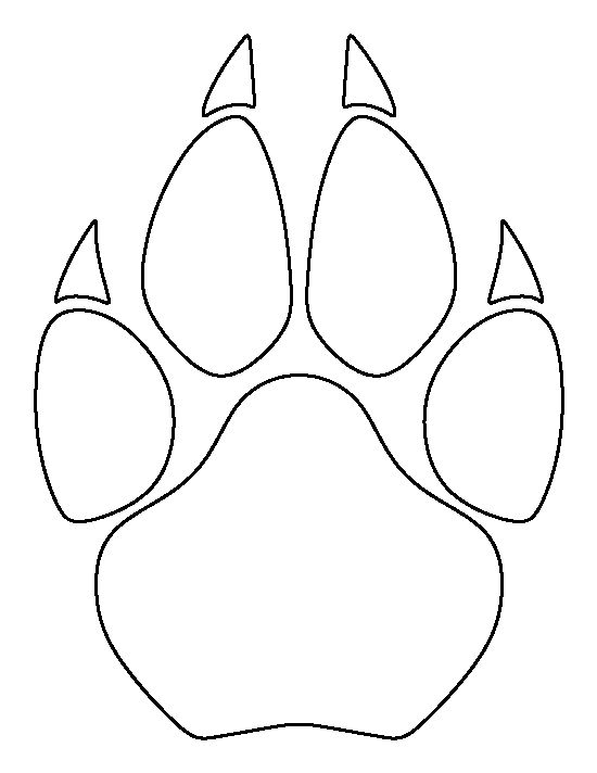 Cougar paw print pattern use the printable outline for for Panther paw coloring page