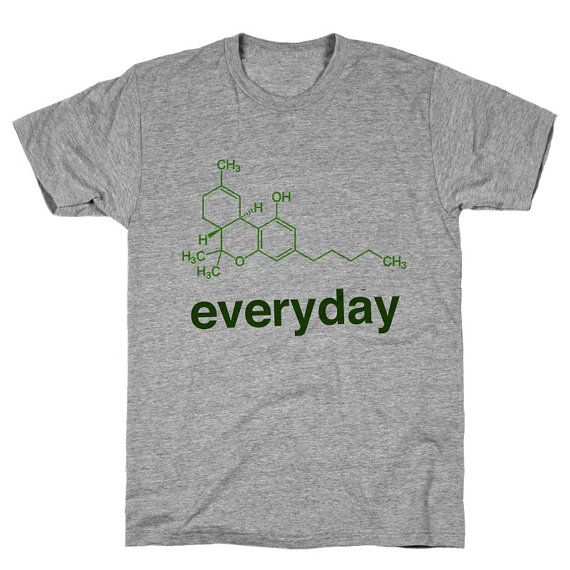 Weed Science THC Athletic Grey Unisex T Shirt by WildYouthTees