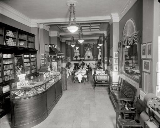 "Washington, D.C., circa 1920. ""Gus Buchholz, Occidental Hotel interior."" A view of the restaurant. Harris & Ewing Collection glass negative"