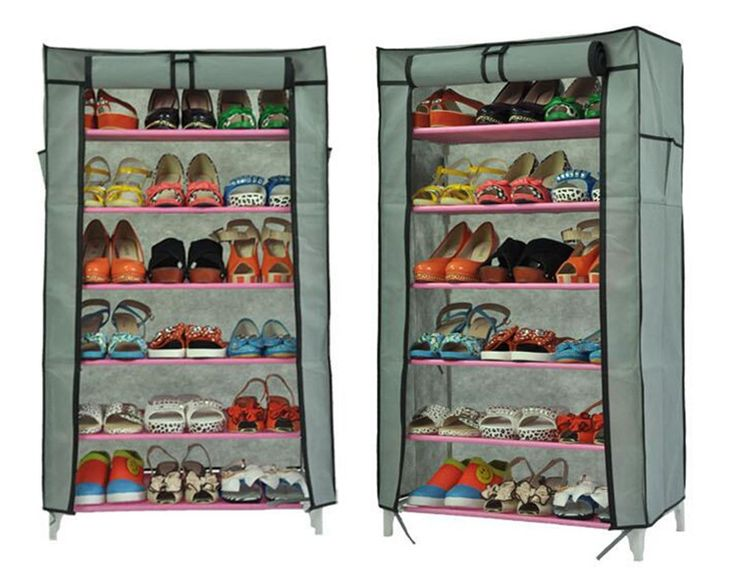 5 Layers High Quality Shoe Closet Shoes Dormitory Large Capacity Removable Storage Racks Simple DIY Home Non-woven Shoe Rack