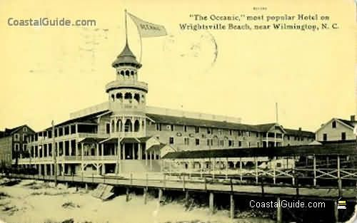 Vintage Postcard of a Famous Hotel of Wrightsville Beach, NC