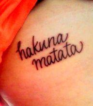 hakuna matata tattoo!!