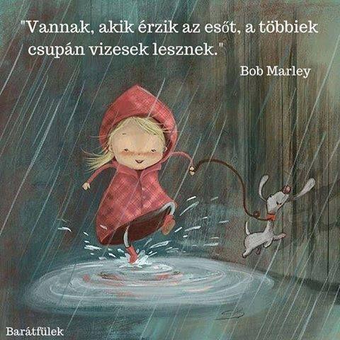 Bob Marley idézet az esőről. A kép forrása: Barátfülek