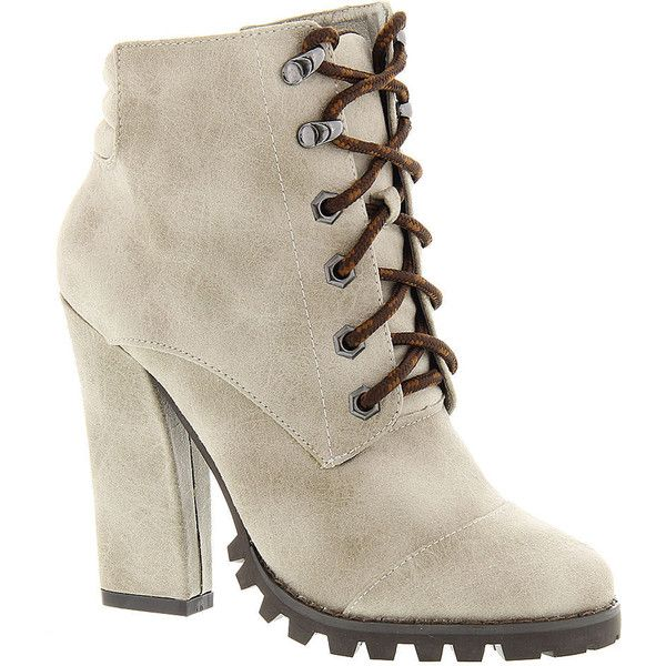 Michael Antonio Tiro ($48) ❤ liked on Polyvore featuring shoes, boots, ankle booties, bota, winter white, quilted boots, platform ankle booties, platform booties, white winter boots and high heel platform boots