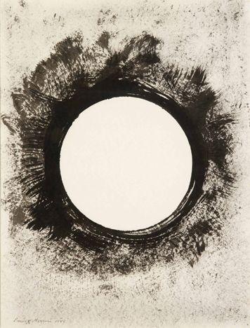 Barnett Newman, Untitled (The void),  1946  Encre sur papier  61 x 45,7 cm  © Humlebaek, Louisiana Museum of Modern Art