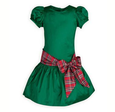 Christmas Green Girls' Holiday Dress.Girls' drop-waist Christmas dress made exclusively for THE WOODEN SOLDIER.