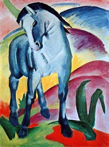 Franz Marc  - Blaues Pferd (1911) Der Blaue Reiter