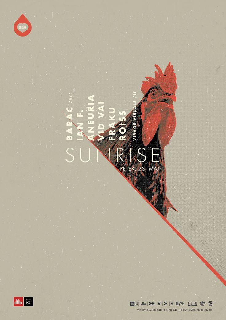 Colours Sunrise poster.