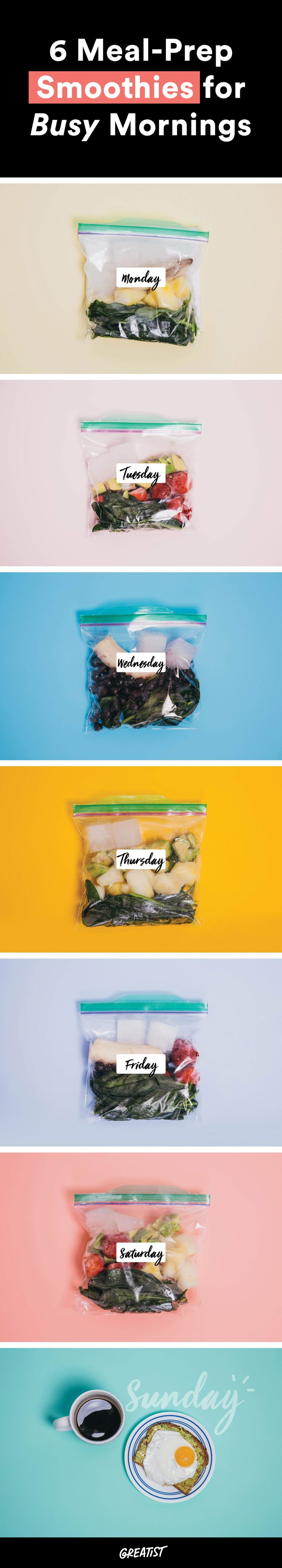 Go ahead, give 'em a whirl. #greatist https://greatist.com/eat/meal-prep-smoothie-recipes