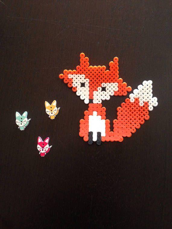 Pixel art Sr.Fox personaje del zorro del cuento del