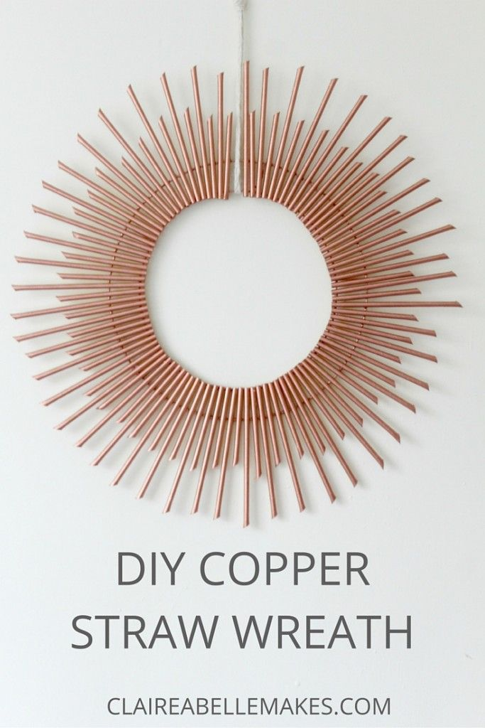 DIY-Copper-Paper-Straw-Wreath-Claireabellemakes