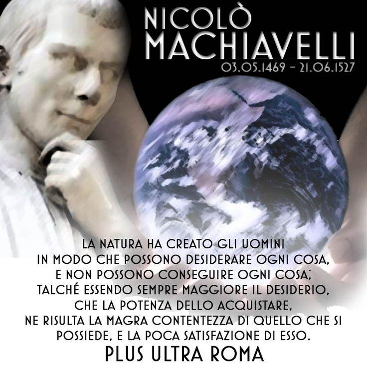 Nicolò Machiavelli 21 Giugno 1527 - Plus Ultra Roma