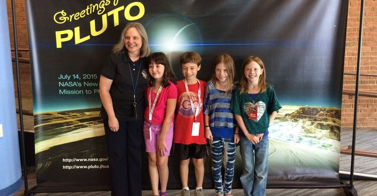 It's been an exciting week of Pluto discovery for the world and for one group of children in particular