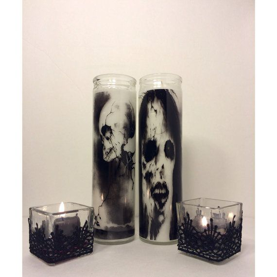 Scary Stories to tell in the Dark Prayer Candle set...the face candles are effin scary!!!!  I know what you're getting if you're my secret santa ;) hahahaaaa