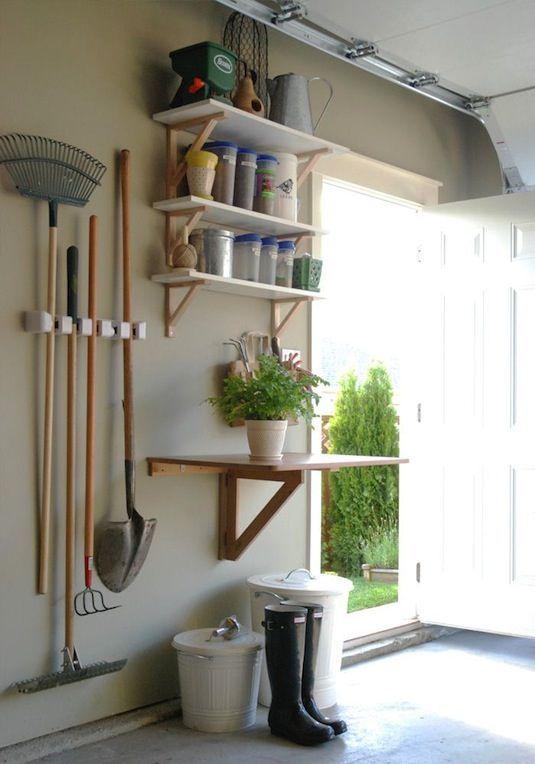 28 Brilliant Garage Organization Ideas | Separate Garden Station