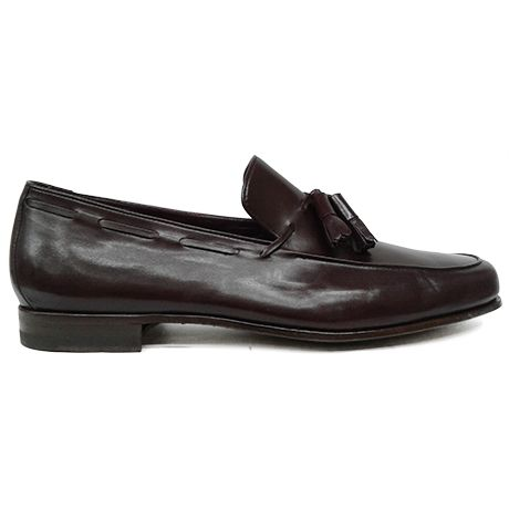 8265 zapato mocasín con borlas en canguro burdeos de Calce | Calzados Garrido