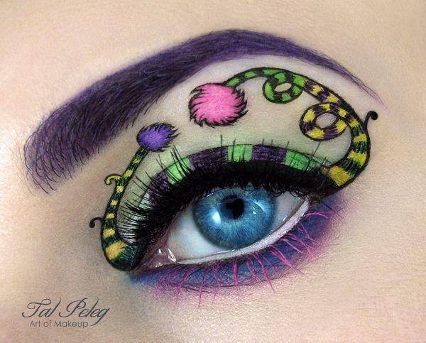 tal peleg maquillage artistique des yeux dr seuss   maquillage artistique des yeux par Tal Peleg   Tal Peleg photo peinture oeil maquillage ...