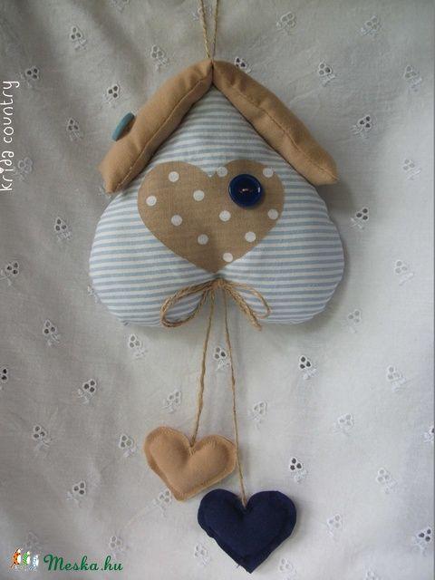 Meska - Szívházikó - Kék-beige kridacountry kézművestől