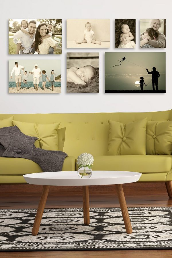 Create your own gallery wall with  custom photo prints of your family. Check our our photo printing process on GalleryDirect.com and create a wall of memories in your home.