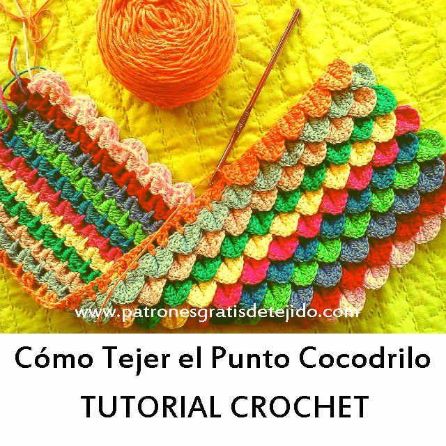 Punto cocodrilo a crochet paso a paso crochet y dos - Tejidos en dos agujas paso a paso ...