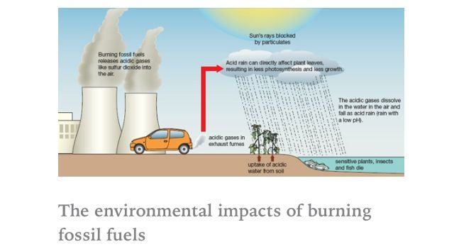 impact of fossil fuels on the Burning fossil fuels fossil fuels such as coal, oil, and gas consist largely of carbon and hydrogen the process that we call burning actually is chemical reactions with oxygen in the air.