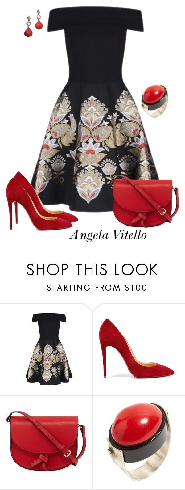 """""""Untitled #985"""" by angela-vitello on Polyvore featuring Ted Baker, Christian Louboutin and KC Jagger"""