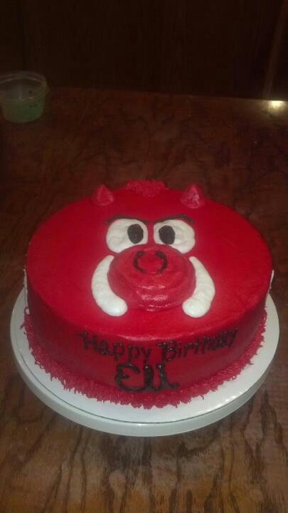 Razorback Birthday Cakes