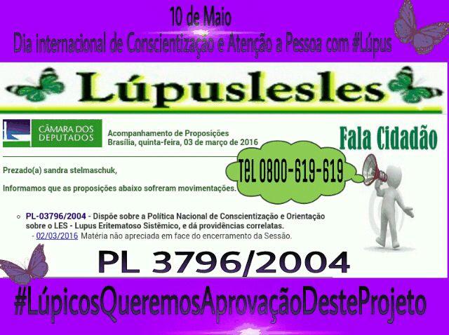 Lúpuslesles: Lúpus Projeto  pronto para ser analisado no Plenár...