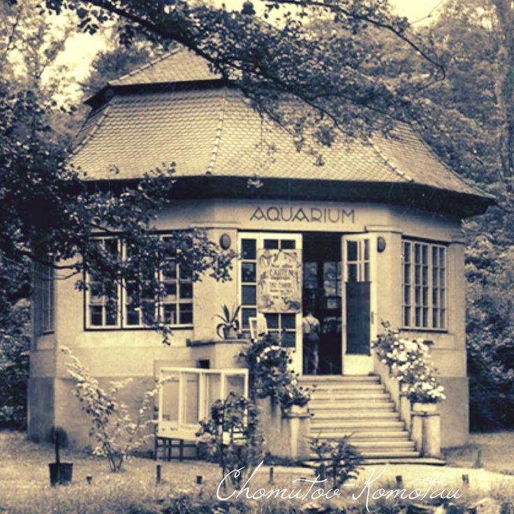 Chomutov-Komotau 1940 Aquarium v městském parku