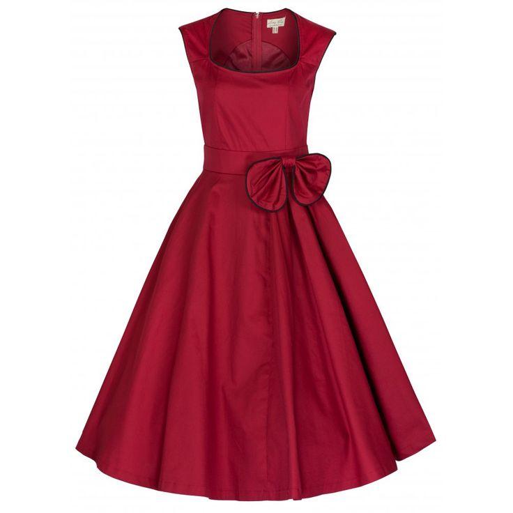 Červené Retro Šaty Blanka Straka Lindy Bop