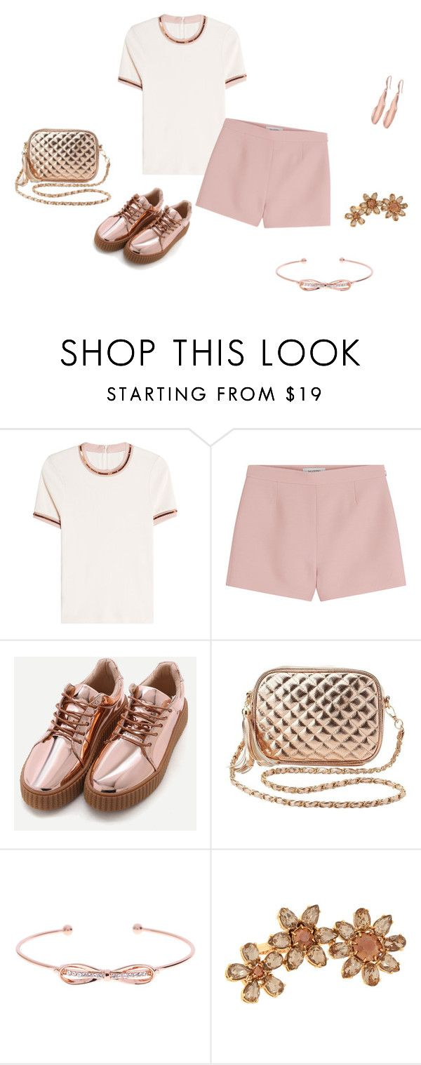 """She Wear Short Shorts"" by kerashawn ❤ liked on Polyvore featuring Carven, Valentino, Charlotte Russe, Ted Baker, Henri Bendel and Robert Lee Morris"