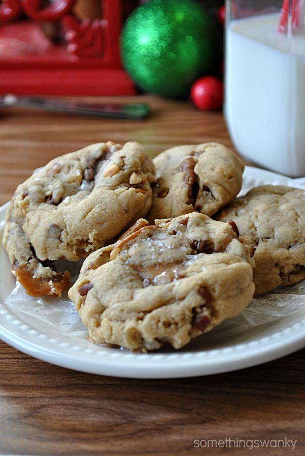 Sea Salt & Peanut Butter Turtle Cookies from Something Swanky