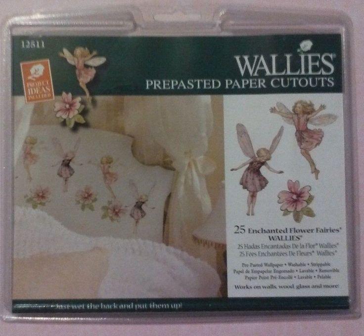 50 WALLIES ENCHANTED FLOWER FAIRIES WALLPAPER CUTOUTS #12511- RARE #WALLIES