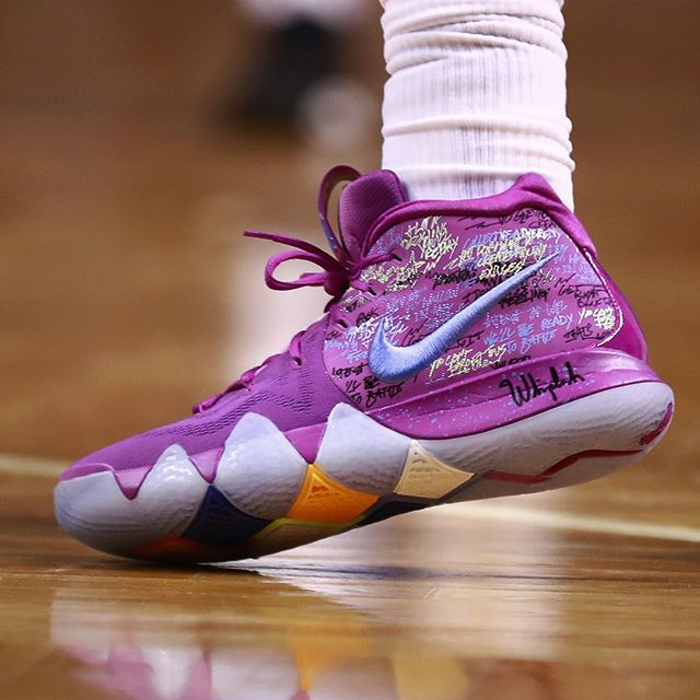 What s the best Nike Kyrie 4 colorway worn on court by  KyrieIrving this  season  ae8e8627df
