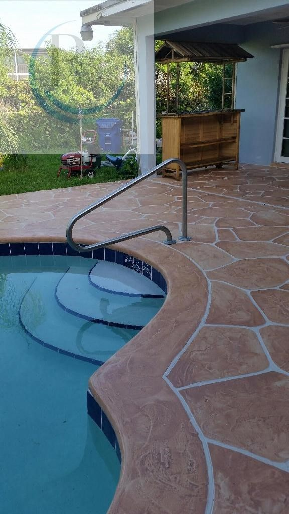 81 best decorative concrete overlay: driveways, patios, pool decks