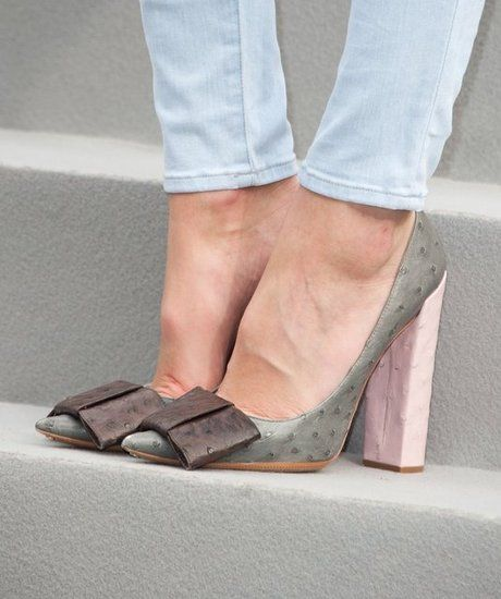 ostrich skin shoes in pastels