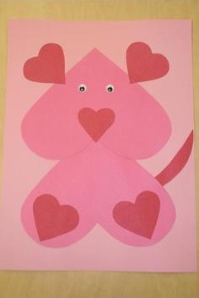 38 best Heart animal craft for Valentine\'s day images on Pinterest ...