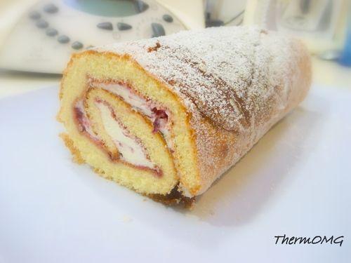 Vanilla Swiss roll : thermomix
