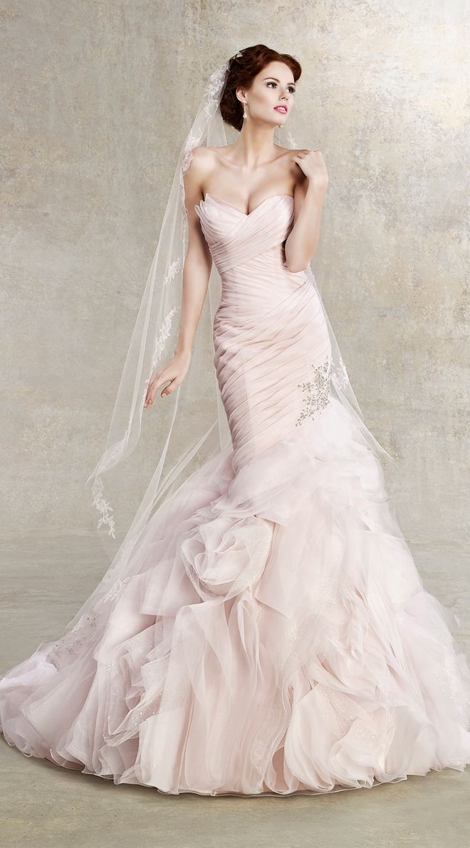 Kitty Chen 2013 Bridal Collection pink wedding gown